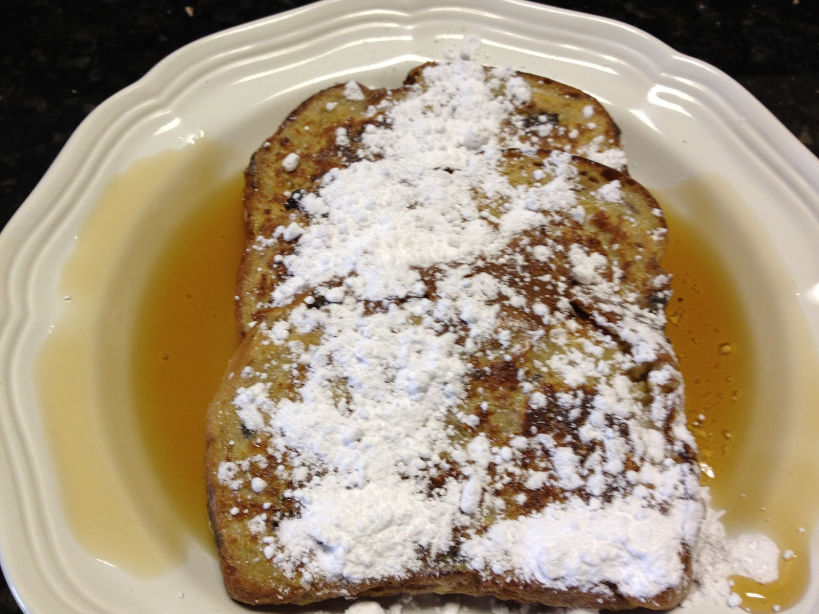french toast topped with powdered sugar